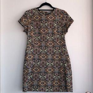 Zara dress with multicolor geo / aztec pattern